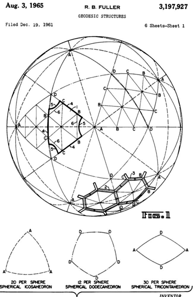 Ingeniero Buckminster Fuller, USA, 1950
