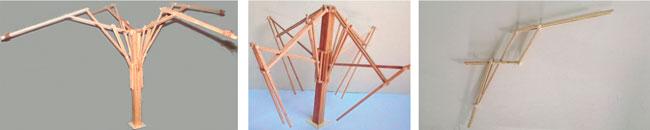 Desarrollo experimental de brazos mecanizados plegables con nodo ascendente