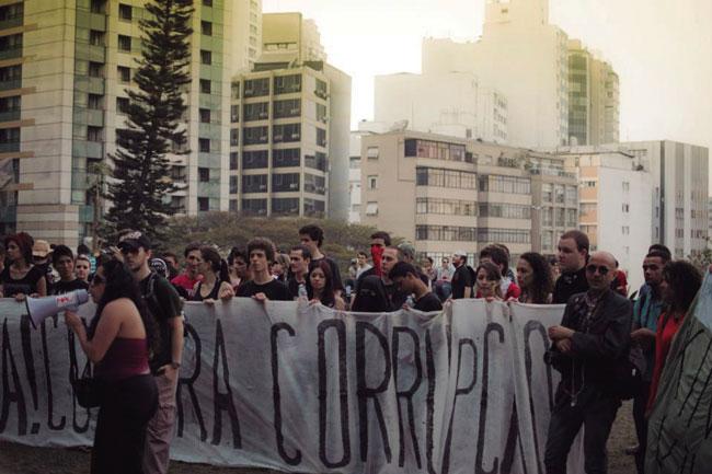 Protesta en São Paulo (Brasil), en el año 2013.